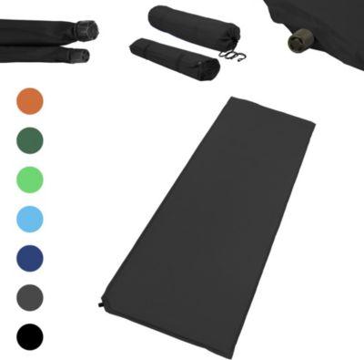 Outdoor Isomatte, selbstaufblasend, ca. 2 m Länge / 3 cm Stärke, inkl. Flick Set - Farbe:Schwarz