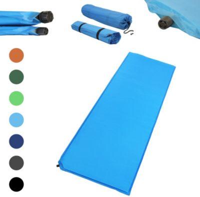 Outdoor Isomatte, selbstaufblasend, ca. 2 m Länge / 3 cm Stärke, inkl. Flick Set - Farbe:hellblau