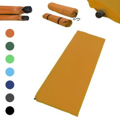 Outdoor Isomatte, selbstaufblasend, ca. 2 m Länge / 3 cm Stärke, inkl. Flick Set - Farbe:orange