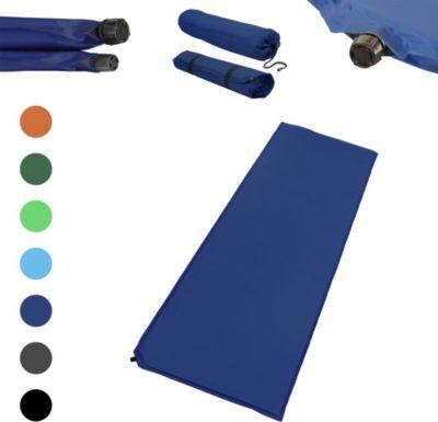 Outdoor Isomatte, selbstaufblasend, ca. 2 m Länge / 3 cm Stärke, inkl. Flick Set - Farbe:dunkelblau