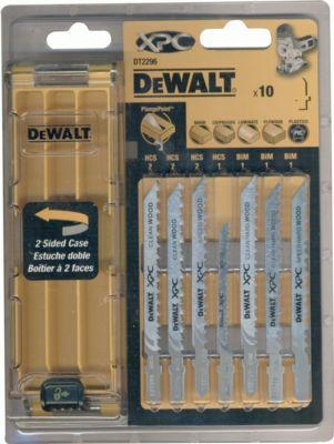 10tlg. DeWalt XPC Stichsägeblätter Set DT2296 Holz Bi-Metall Stichsäge Blatt