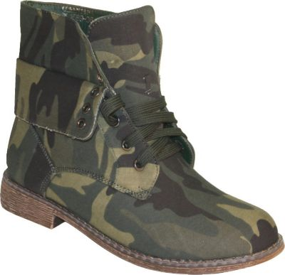 Damen Stiefelette Boots camouflage Gr. 36