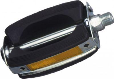 Sport Pedal Union Gummiblock, 9/16´´, mit Reflektoren, schwarz (1 Paar)