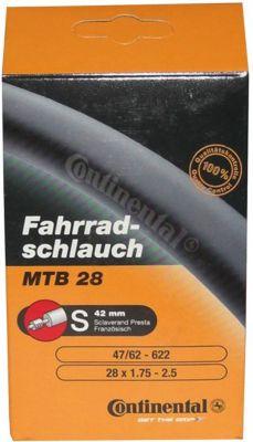 Continental 0182181 ´´MTB 28/29´´ Schlauch, 28/29x1.75/2.50´´ (47/62-622), SV 42 mm, schwarz (1 Stüc