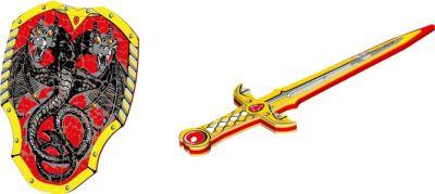 BestSaller 995011 ´´Softline EVA Premium´´ Ritter Schwert &amp Schild ´´Dragon´´, rot/gelb, 2-teilig