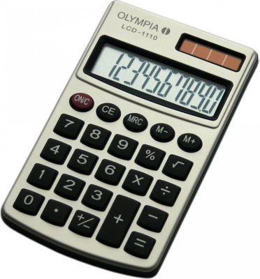 OLYMPIA LCD 1110 Taschenrechner, silber