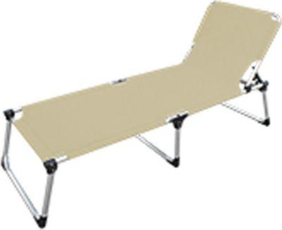 lex alu sonnenliege extra hoch extra lang beige. Black Bedroom Furniture Sets. Home Design Ideas