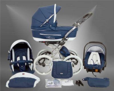 True Love Classic One Plus Kinderwagen Ganzjahres-Set (Winterfußsack, Sonnenschirm, Autositz & Adapt