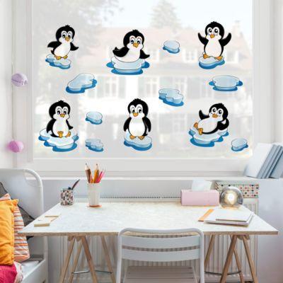 Fensterfolie - Fenstersticker - Pinguin... 60cm x 60cm