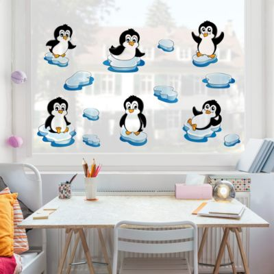 Fensterfolie - Fenstersticker - Pinguin... 120cm x 120cm