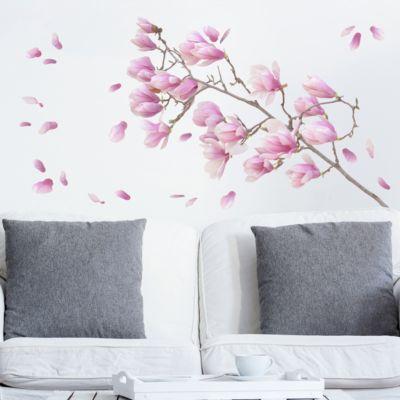 Wandtattoo Floral Magnolie Zweig... 60cm x 20cm