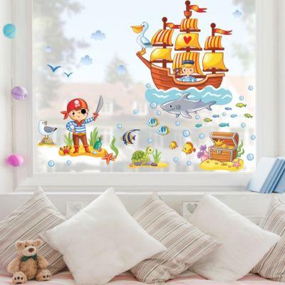 Fensterfolie - Fenstersticker - Piraten... 30cm x 45cm