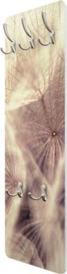 Wandgarderobe Blumen - Detailreiche Pusteblumen Makroaufnahme mit Vintage Blur Effekt - Garderobe