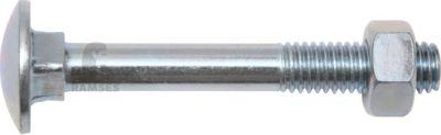 Flachrundschraube mit Vierkantansatz und Mutter DIN 603 M10 x 200 mm Stahl verzinkt SW17 25 Stück