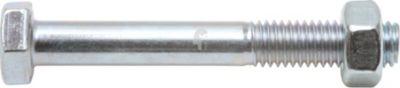 Sechskantschraube mit Schaft und Mutter DIN 601 M8 x 20 mm Stahl verzinkt Güte 4.6 SW13 50 Stück