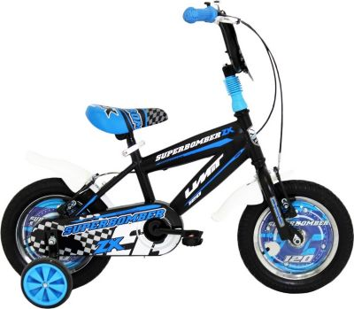 12 Zoll Jungen Fahrrad Hoopfietsen... schwarz-blau