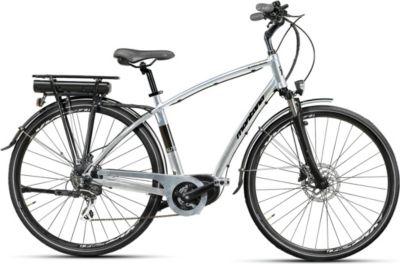 28 Zoll Montana E-Lunapiena Herren E-Bike Trekking Fahrrad 8 Gang grau, 54cm