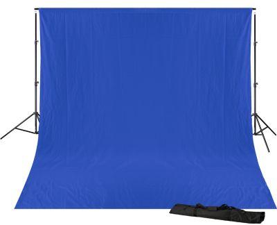 BRESSER BR-D23 Hintergrundsupport 240x300cm inkl. chromakey blauem Hintergrundtuch 3x4m