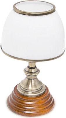 relaxdays Tischlampe Glasschirm klassisch