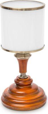 relaxdays Tischlampe mit Glasschirm