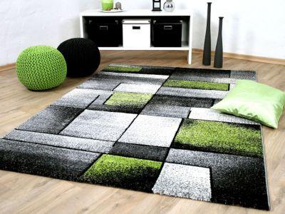 Designer Teppich Brilliant Grau Grün... 140x200 cm