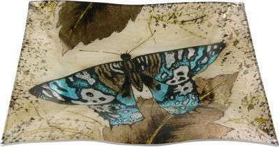 HTI-Living Dekoteller Butterfly Gold Welle