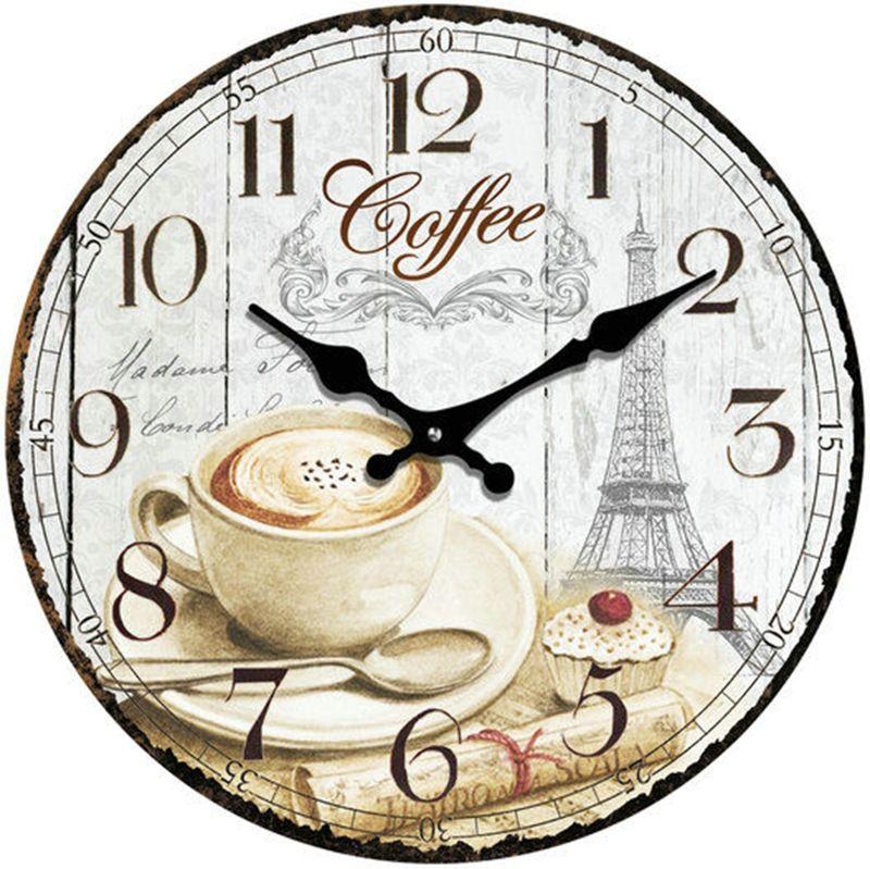 HTI-Line Wanduhr Coffee