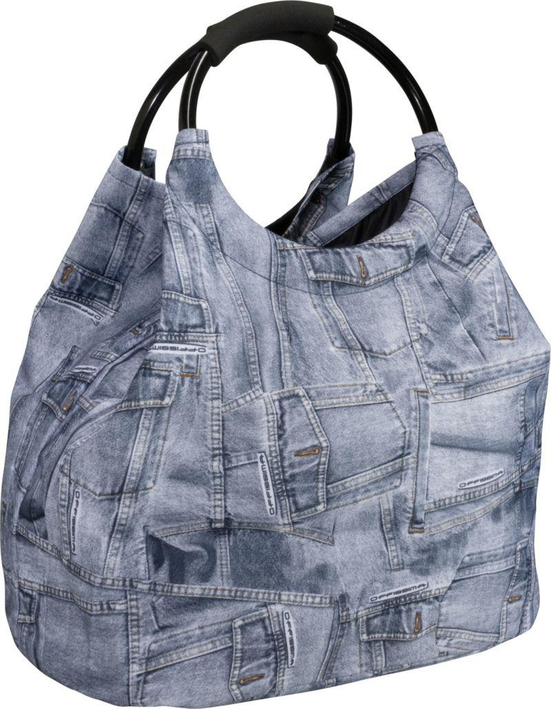 HTI-Living Shopping- und Strandtasche Jeanslook