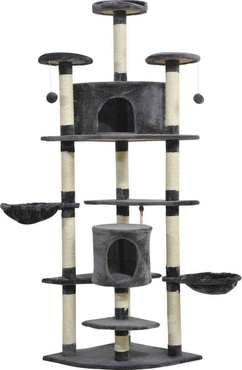 PawHut Katzen Kratzbaum mit Sisal und Plüsch