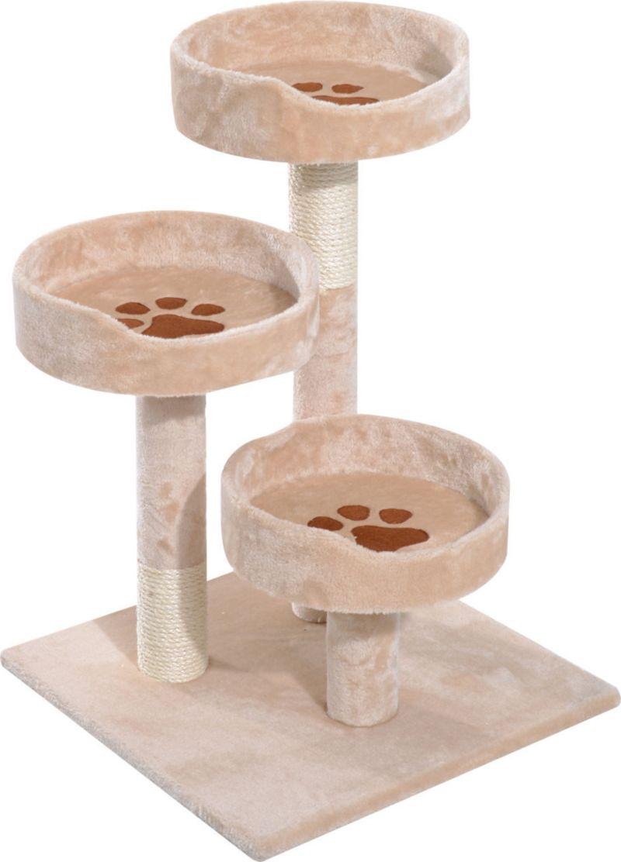 PawHut Katzen Schlafplatz mit Pfotenmuster