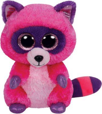 Ty Roxie Buddy-Waschbär pink / lila, ca. 24 cm