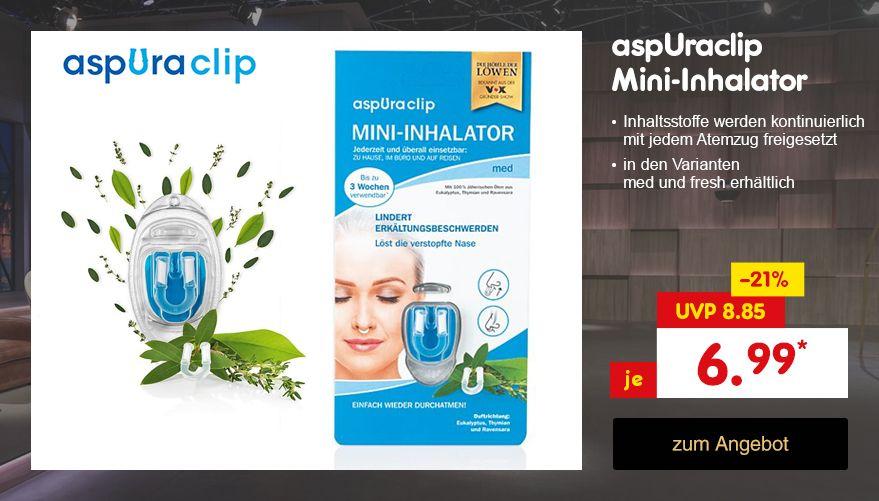 Die Höhle der Löwen - aspUraclip Mini-Inhalator, für nur 6.99 €* direkt hier im Netto Online-Shop kaufen.