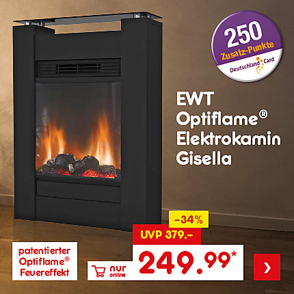 EWT Optiflame Elektrokamin Gisella, für nur 249.99 €*