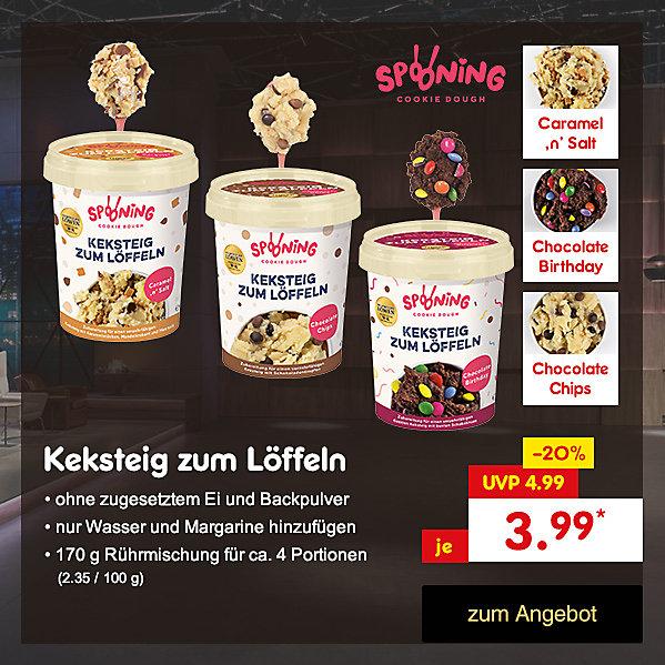 Die Höhle der Löwen - Spooning Cookie Dough Keksteig zum Löffeln versandkostenfrei mit Code N-frei18 für nur 3.99 €* direkt hier im Netto Online-Shop kaufen.