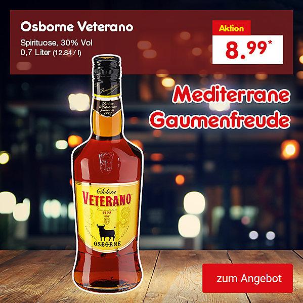 Osborne Veterano Spirituose, 30% Vol. 0,7 Liter (12.84 / l), für nur 8.99 €*