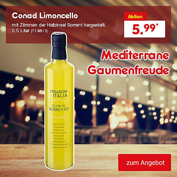 Conad Limoncello 30% Vol. 0,5 Liter (11.98 / l), für nur 5.99 €*