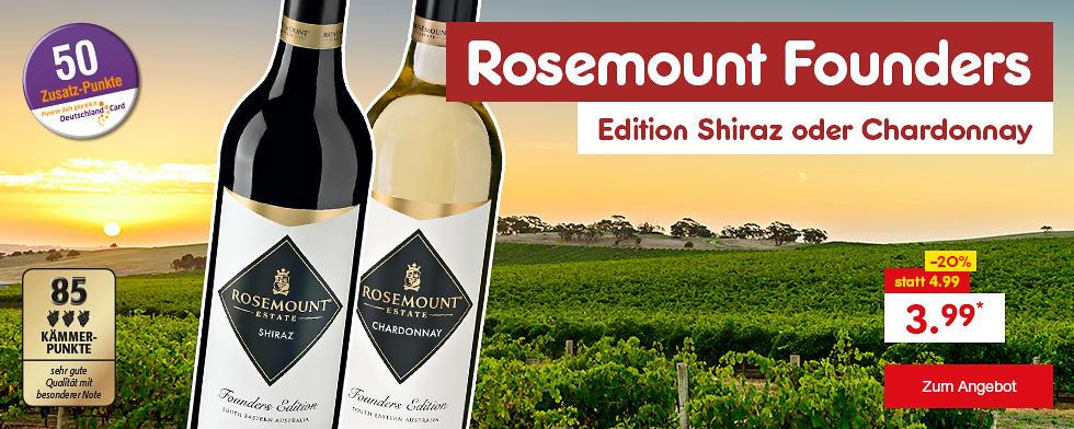 Rosemount Founders Edition Shiraz oder Chardonnay, je nur 3.99 €*