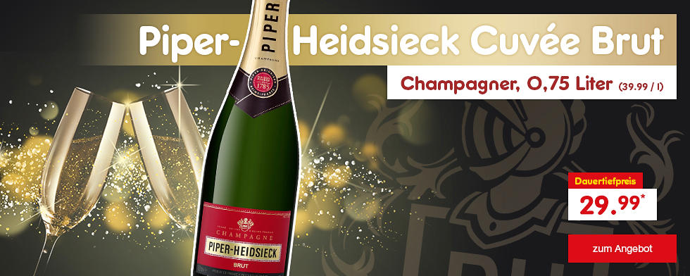 Piper-Heidsieck Cuvée Brut Champagner, nur für 29.99 €*