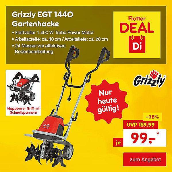 Flotter Deal - Grizzly EGT 1440 Gartenhacke, für nur 99.- €*