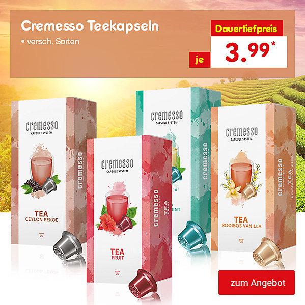 Cremesso Teekapseln, versch. Sorten, je 3.99 €*