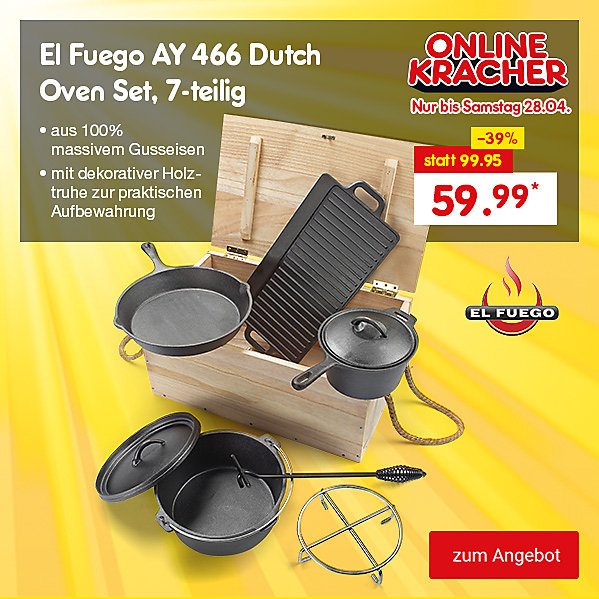 Onlinekracher - El Fuego AY 466 Dutch Oven Set, 7-teilig für nur 59.99 €*
