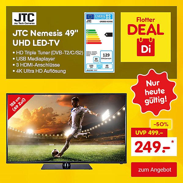 "Flotter Deal - JTC Nemesis 49"" UHD LED-TV, für nur 249.- €*"