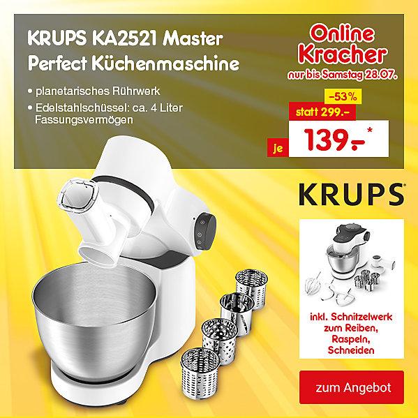 Onlinekracher - Krups KA25251 Master Perfect Küchenmaschine, nur 139.- €*
