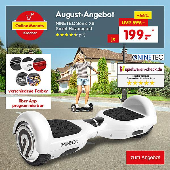 Unser Online-Monats-Kracher August erwartet Sie - NINETEC Sonic X6 Smart Hoverboard für nur 199.- €*