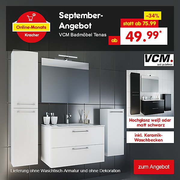 Online-Monats Kracher, VCM Badmöbel Tenas, ab 49.99 €*