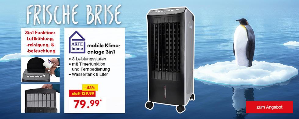 Frische Brise - Arte home mobile Klimaanlage 3in1 für nur 79.99*