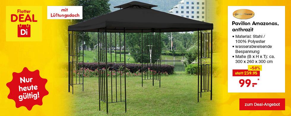 Flotter Deal - Garden Pleasure Pavillon Amazons in verschiedenen Farben, je nur 99.–*