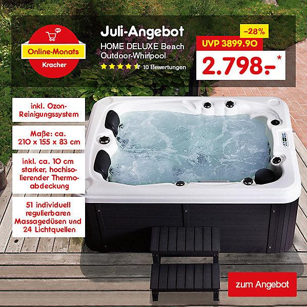 Unser Online-Monats-Kracher Juli erwartet Sie - Home Deluxe Beach Outdoor-Whirlpool für nur 2798.- €*