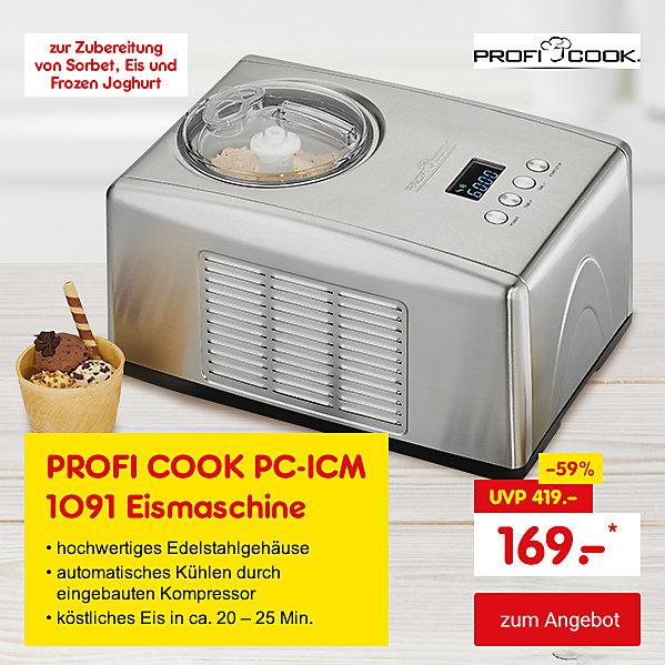 Exklusiv im Online Shop - PROFI COOK PC-ICM 1091 Eismaschine, für nur 169.- €*
