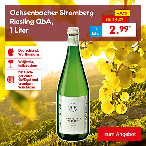 Ochsenbacher Stromberg Riesling QbA, 1 Liter für nur 2.99 €*